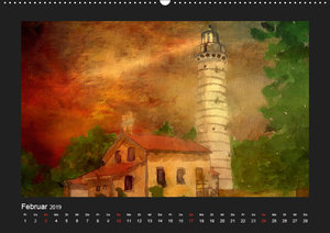Leuchttürme bei Nacht (Wandkalender 2019 DIN A2 quer)