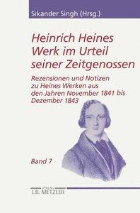 Heinrich Heines Werk im Urteil seiner Zeitgenossen 07