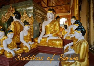 Buddhas of Burma / UK-Version (Stand-Up Mini Poster DIN A5 Land