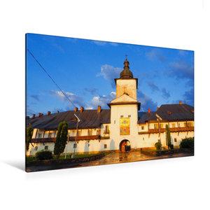 Premium Textil-Leinwand 120 cm x 80 cm quer Kloster Neamt