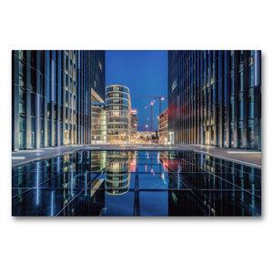 Premium Textil-Leinwand 90 cm x 60 cm quer Medienhafen Düsseldor