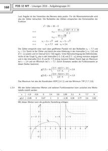 Abschlussprüfung Mathematik Technik FOS-BOS 12 Bayern 2017
