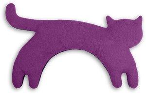 Katze Minina stehend groß Purpur, Wärmekissen