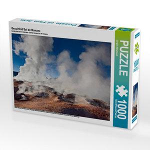 Geysirfeld Sol de Manana 1000 Teile Puzzle quer