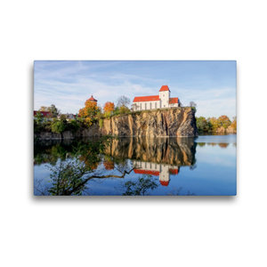Premium Textil-Leinwand 45 cm x 30 cm quer Bergkirche Beucha