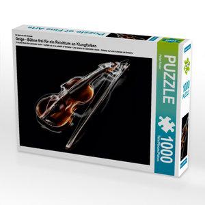 CALVENDO Puzzle Geige - Bühne frei für ein Reichtum an Klangfarb