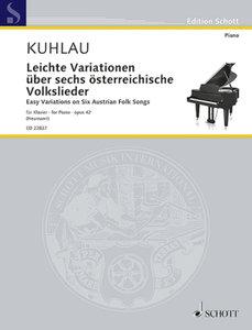 Leichte Variationen über sechs österreichische Volkslieder