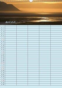 Island Familienplaner (Wandkalender 2019 DIN A3 hoch)