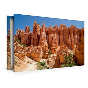 Premium Textil-Leinwand 120 cm x 80 cm quer UTAH Bryce Canyon Ho