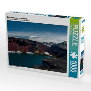 Gletscherwasser in roter Erde 1000 Teile Puzzle quer