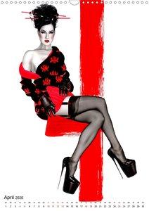 Geisha Asia Japan Pin-up Kalender