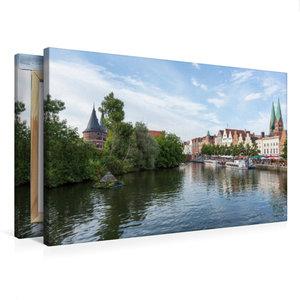 Premium Textil-Leinwand 75 cm x 50 cm quer Obertrave in Lübeck