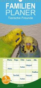 Tierische Freunde - Familienplaner hoch (Wandkalender 2019 , 21