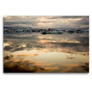 Premium Textil-Leinwand 120 cm x 80 cm quer Sonnenuntergang am G