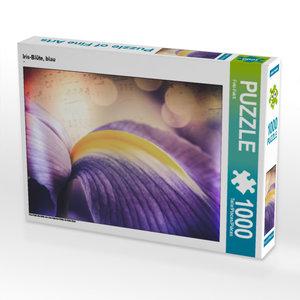 CALVENDO Puzzle Iris-Blüte, blau 1000 Teile Lege-Größe 64 x 48 c