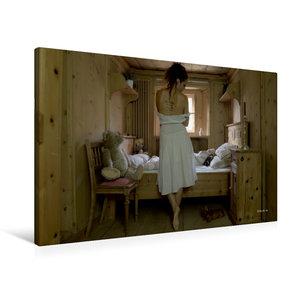 Premium Textil-Leinwand 90 cm x 60 cm quer Trautes Heim