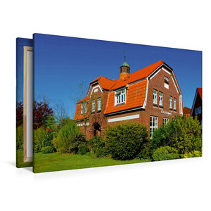 Premium Textil-Leinwand 120 cm x 80 cm quer Die alte Schule
