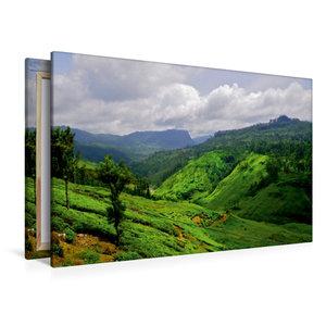 Premium Textil-Leinwand 120 cm x 80 cm quer Sri Lanka Hochland