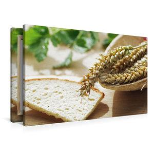 Premium Textil-Leinwand 90 cm x 60 cm quer Frisches Getreide zum