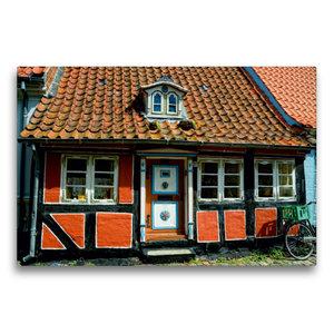 Premium Textil-Leinwand 75 cm x 50 cm quer Altes Haus in Faaborg
