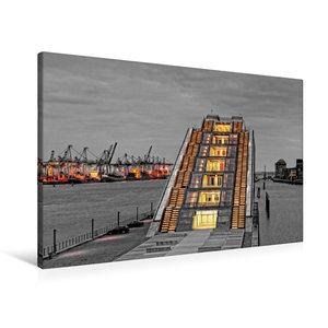 Premium Textil-Leinwand 90 cm x 60 cm quer Dockland