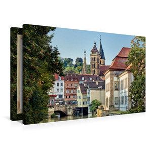 Premium Textil-Leinwand 90 cm x 60 cm quer Altstadt und Stadtkir