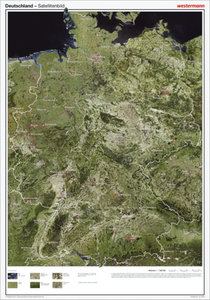 Posterkarten Geographie: Deutschland Satellitenbild