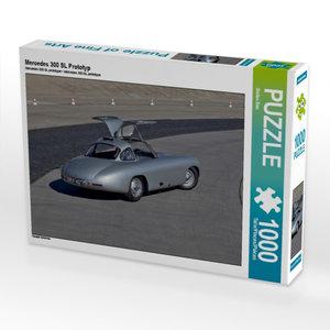 Mercedes 300 SL Prototyp 1000 Teile Puzzle quer