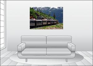 Premium Textil-Leinwand 120 cm x 80 cm quer Herrlicher Ausblick