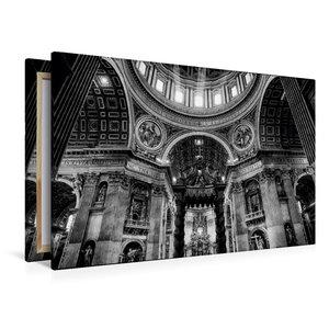 Premium Textil-Leinwand 120 cm x 80 cm quer Petersdom im Vatikan
