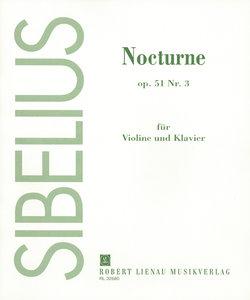 "Nocturne op. 51 Nr.3 aus der Suite \""Belsazar\"", Violine und Kla"