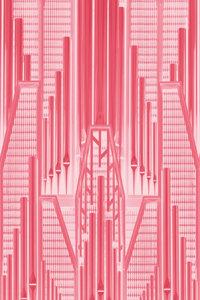 Premium Textil-Leinwand 30 cm x 45 cm hoch Pink Art