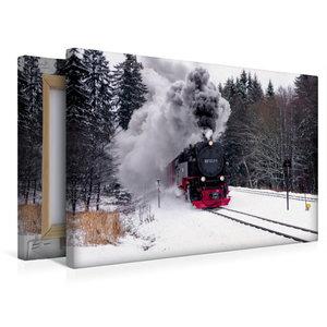 Premium Textil-Leinwand 45 cm x 30 cm quer Brockenbahn
