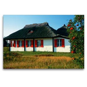 Premium Textil-Leinwand 120 cm x 80 cm quer Haus auf Hiddensee