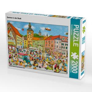 Sommer in der Stadt 2000 Teile Puzzle quer