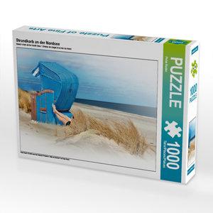 Strandkorb an der Nordsee 1000 Teile Puzzle quer