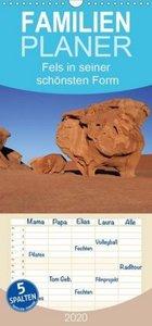 Fels in seiner schönsten Form - Familienplaner hoch (Wandkalende