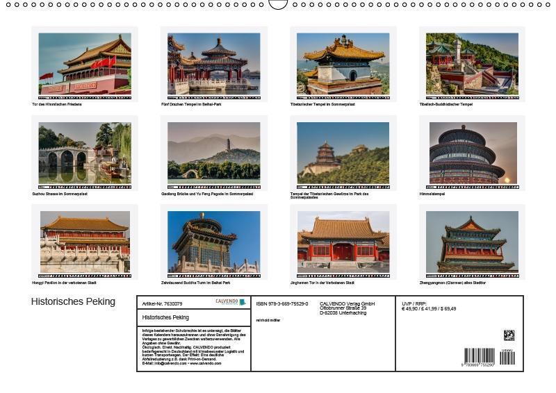 Historisches Peking (Wandkalender 2019 DIN A2 quer) - zum Schließen ins Bild klicken