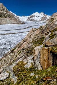 Premium Textil-Leinwand 80 cm x 120 cm hoch Aletschgletscher im