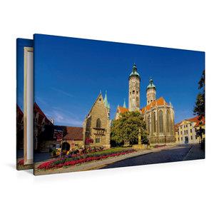 Premium Textil-Leinwand 120 cm x 80 cm quer Naumburger Dom