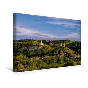 Premium Textil-Leinwand 45 cm x 30 cm quer Burg Saaleck und Rude