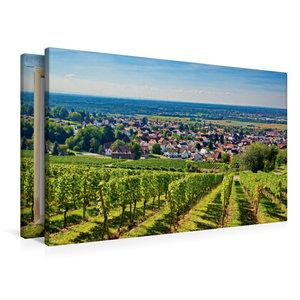 Premium Textil-Leinwand 90 cm x 60 cm quer Blick vom Reuschberg