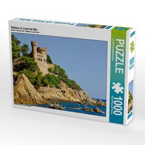 Schloss in Lloret de Mar 1000 Teile Puzzle quer