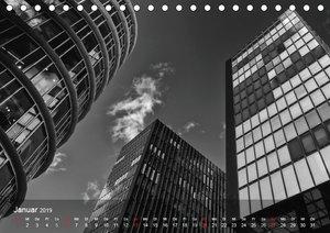 Düsseldorf Ansichten in Schwarz-Weiß (Tischkalender 2019 DIN A5