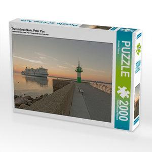 CALVENDO Puzzle Travemünde Mole, Peter Pan 2000 Teile Lege-Größe