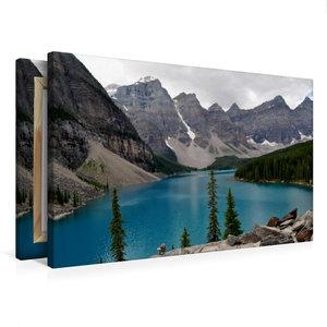 Premium Textil-Leinwand 75 cm x 50 cm quer Moraine Lake, Kanada