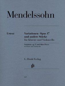 Variationen op. 17 und andere Stücke für Klavier und Violoncello