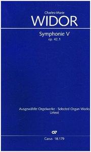 Symphonie No. V pour Orgue, Partitur