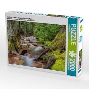Jackson Creek - Glacier National Park 2000 Teile Puzzle quer