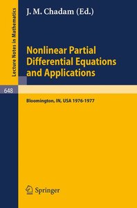 Nonlinear Partial Differential Equations and Applications
